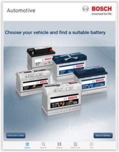 Aplicatie pentru gasirea bateriei potrivite