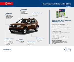 Autoghidul lunii - Denso. Coduri Dacia Duster Motor 1.6 16v (2010- )
