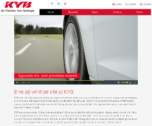KYB lansează un site web nou european în limba română
