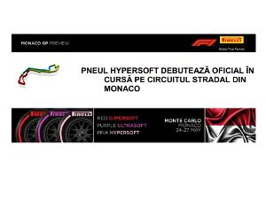 Pneul Hypersoft debuteaza oficial in cursa pe circuitul stradal din Monaco