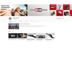 Champion® lansează un canal de YouTube cu tutoriale și sfaturi destinate tehnicienilor și șoferilor