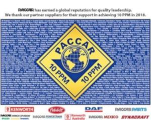 Dayco a primit certificatul PACCAR de calitate pentru 2018