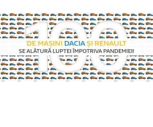 100 de mașini Dacia și Renault se alătură împotriva pandemiei