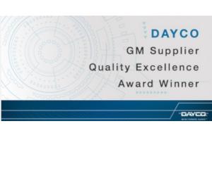 Dayco - câștigător al premiului de excelență GM SUPPLIER