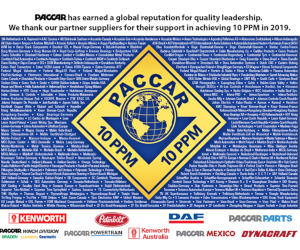 Dayco a fost recunoscut cu Certificarea PACCAR Quality Achievement pentru anul anterior