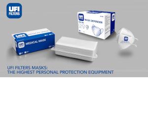 UFI Filters își extinde producția. Domenii specifice ce sunt dedicate fabricării materialului filtrant pentru măști