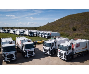 Cefin Trucks, lider în segmentul vehiculelor municipale, livrează o flotă de 35 Autogunoiere compactoare Ford Trucks către compania AVE Bihor