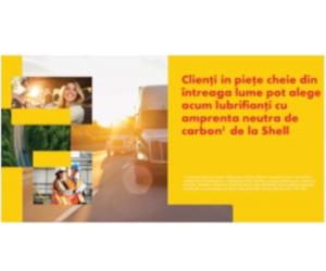 SHELL introduce un portofoliu global de lubrifianti cu amprenta redusa de carbon