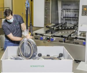 Schaeffler și Flender introduc un sistem de ambalare inovator și ecologic pentru rulmenții de dimensiuni mari