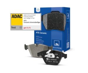 Test de frâne ADAC: Plăcuțele ATE Ceramic sunt câștigătoarele testului